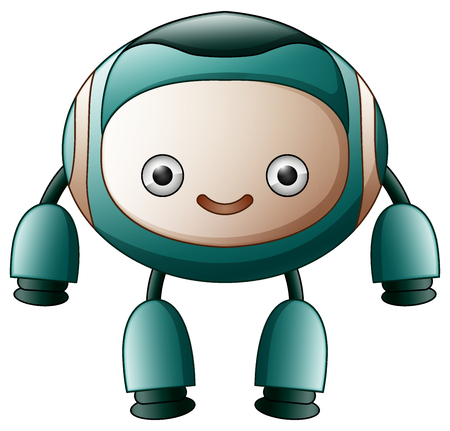Vector illustration of cute robot cartoon isolated on white background Illustration