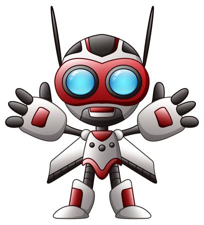 Vector illustration of Cute cartoon robot