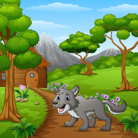 Loup seul dans le village