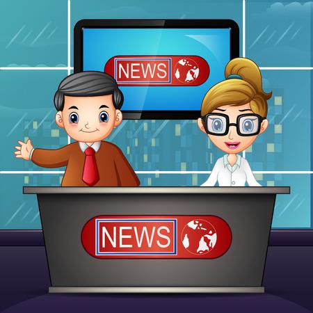 Nachrichtensprecher im Fernsehen