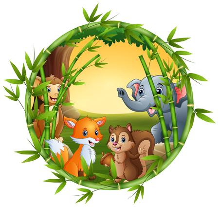 The animals are meet together Ilustração