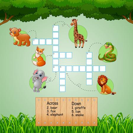 Cruciverba animali per giochi per bambini