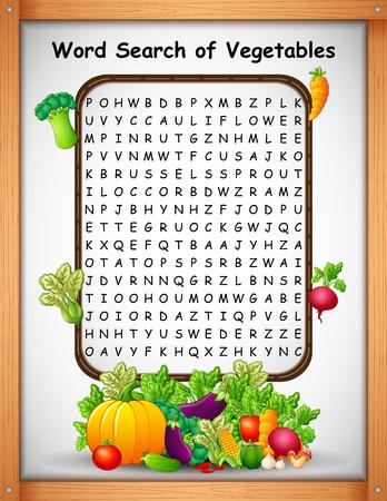Crucigramas encontrar verduras para juegos de niños