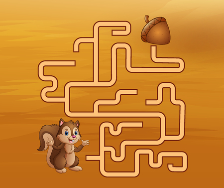 Game squirrel maze find their way to the walnut