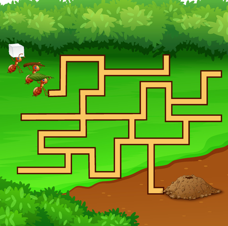 Maze ant games find their way to the hole ground