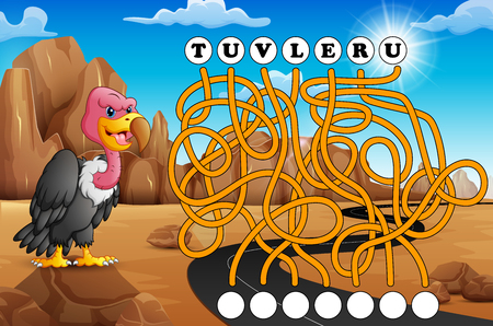 Game vulture maze find way to the word Banco de Imagens
