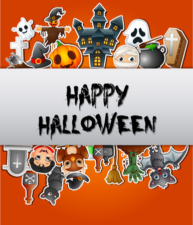 Happy Halloween poster card celebrations