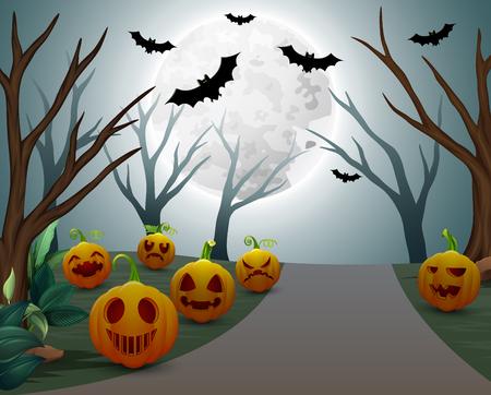 Background of Halloween celebration on night