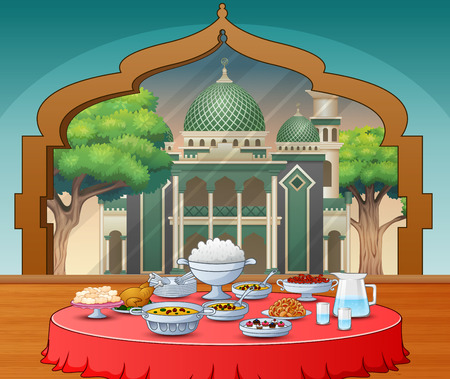 Delicious dishes for Iftar party