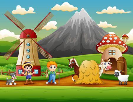 The farmers activity on the farm Archivio Fotografico - 130121713