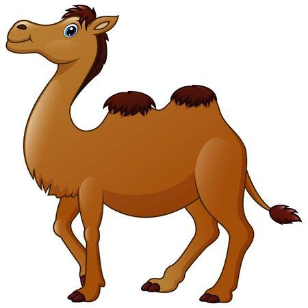Cute a camel cartoon Vetores