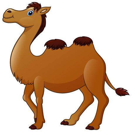 Cute dibujos animados de un camello Ilustración de vector