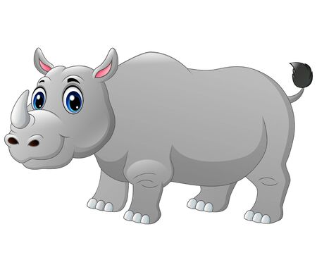 A big rhino cartoon 向量圖像