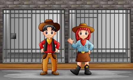 The cowboy and cowgirl in prison cell