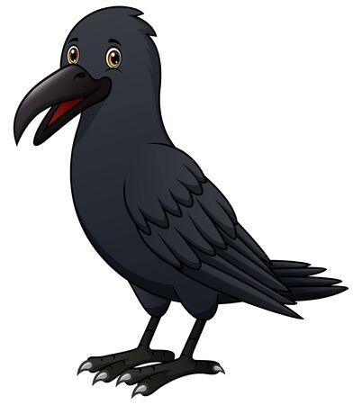 A terrible crow flying cartoon