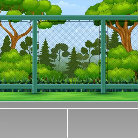 Cartoon background of sport field for game