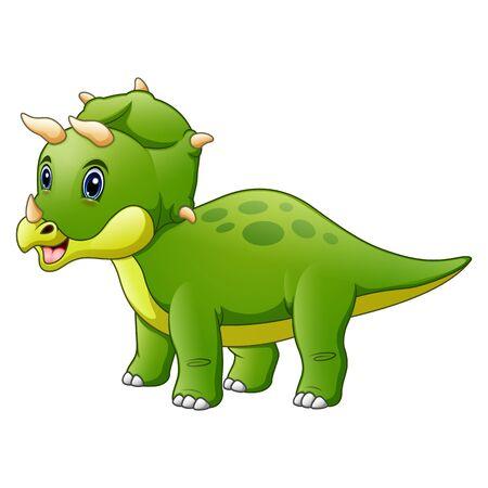 Dinosaur Triceratops cartoon isolated on white background