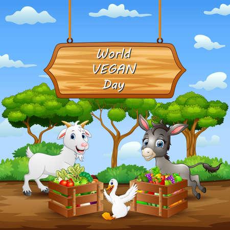 Happy World Vegan Day concept background