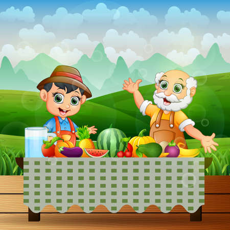 The farmers will eat the fresh fruit on the table