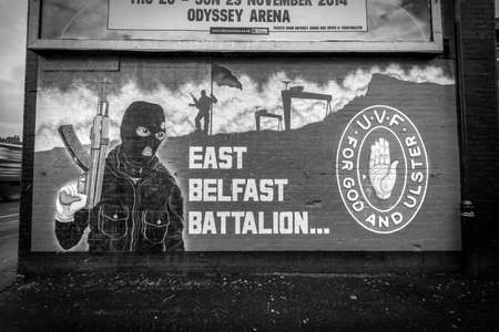 UVF mural in East Belfast. Banque d'images