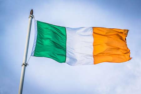 アイルランドの旗 写真素材