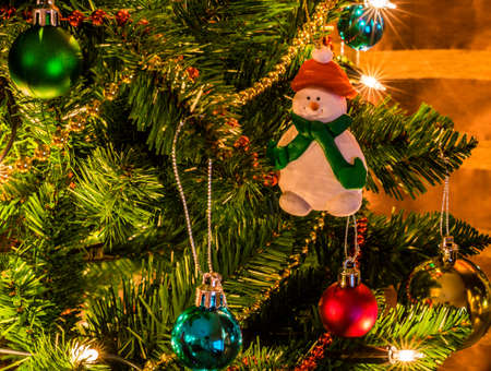Christmas Tree Snowman Decoration