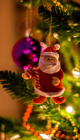 Christmas Tree Santa Decoration