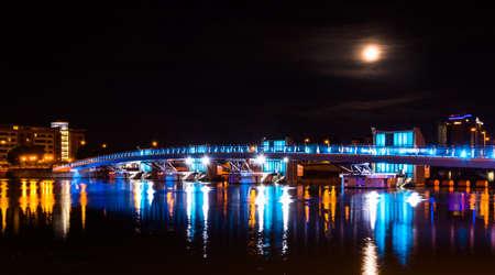 New River Lagan footbridge opens in Belfast Stock Photo