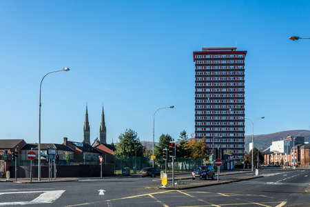 Divis Tower Block in Belfast Éditoriale