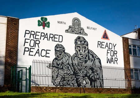 Loyalist Mural in Belfast, Northern Ireland