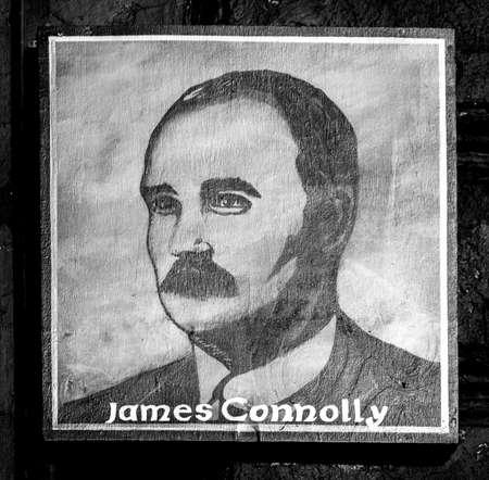 irish easter: Portrait of Socialist James Connolly