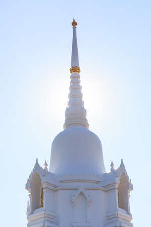 The white pagoda is a respect people of Buddhism.