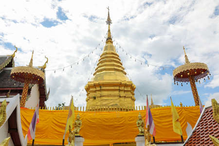 Pagoda was built to preserve the relic of the Buddha at temple in Thailand.
