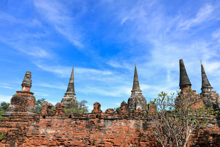 The ruins of ancient pagoda and was capital of Thailand.