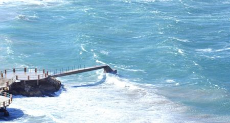 causing: the mistral wind in marseille causing waves and wind