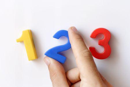 sumas: n�mero de imanes para refrigerador Viendo 1 2 3, parte la celebraci�n de la n�mero 2