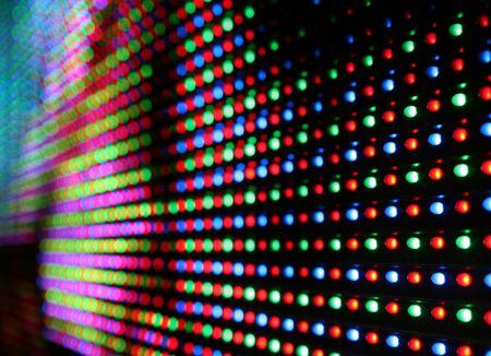 trippy: close-up de colorido llevado pantalla
