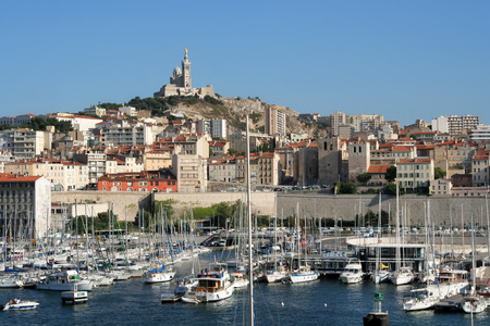 vieux port of marseille, france Stock Photo