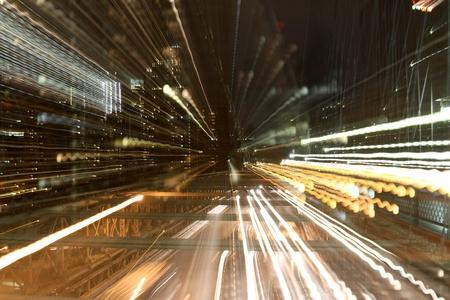 abstract shot on brooklyn bridge, new york photo
