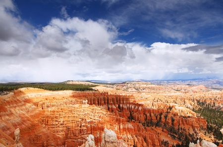 the amazing rock structures at bryce canyon, utah, usa photo