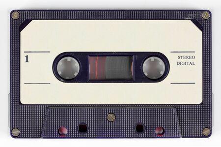 tape cassette: close-up of a music cassette