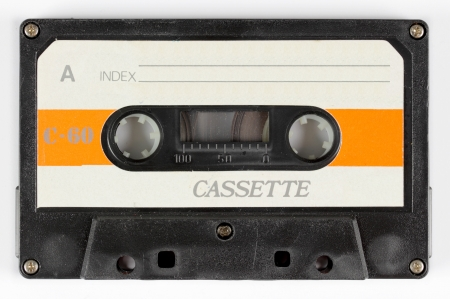cassette tape: close-up of a music cassette