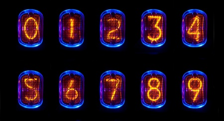 a numerical counter and number sequence using an old nixie tube clock