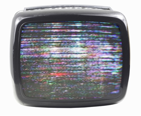 fuzz: an old television with static on screen