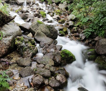 long exposure to freeze flowing water photo