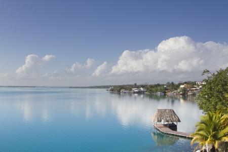 Bacalar lagoon. Quinatana Roo, Mexico