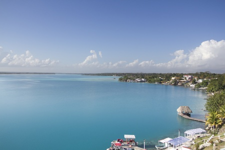 discovery channel: Bacalar lagoon. Quinatana Roo, Mexico