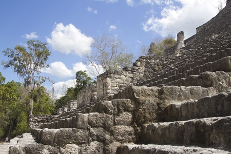 time-lapse of the mayan ruins at calakmul, mexico. the mayans believe that transformative events will occur on 21 december 2012 photo