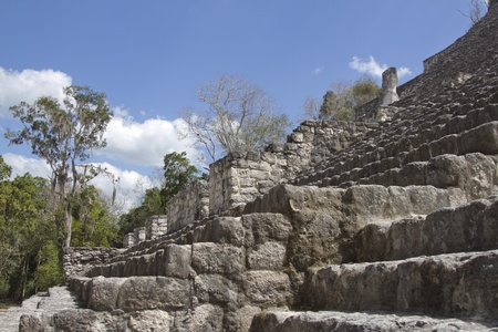 eschatology: time-lapse of the mayan ruins at calakmul, mexico. the mayans believe that transformative events will occur on 21 december 2012