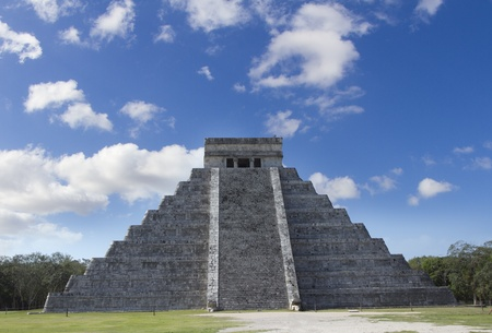 time-lapse of the mayan ruins at chichen itza, mexico. the mayans believe that transformative events will occur on 21 december 2012 photo